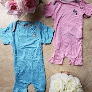 EZ 1Z ...2 Piece Bundle.   Pink & Blue Onesie